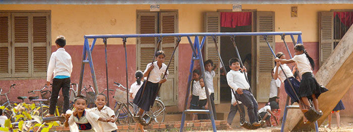 Building Futures project in Cambodia new primary school and play area