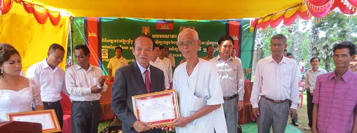 Opening the school in Cambodia