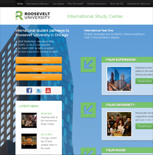 Roosevelt University International Study Center website