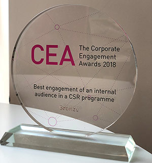 Corporate Engagement Awards Trophy