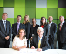University of Lincoln work-based distance learning contract signing