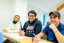 Students in classroom at Keele University International study Centre